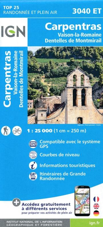 3040ET  Vaison-la-Romaine, Carpentras | wandelkaart 1:25.000 9782758541691  IGN IGN 25 Provence  Wandelkaarten Provence, Marseille, Camargue