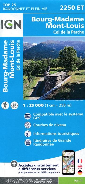2250ET   Bourg Madame, Mont-Louis | wandelkaart 1:25.000 9782758542780  IGN TOP 25  Wandelkaarten Franse Pyreneeën