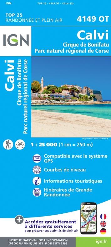 4149OT: Calvi, Cirque de Bonifati | wandelkaart 1:25.000 9782758546757  IGN TOP 25  Wandelkaarten Corsica