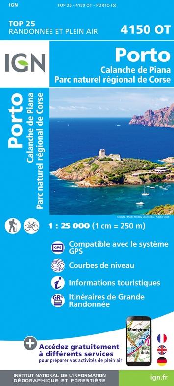 4150OT: Porto, Calanche du Piana | wandelkaart 1:25.000 9782758546764  IGN TOP 25  Wandelkaarten Corsica