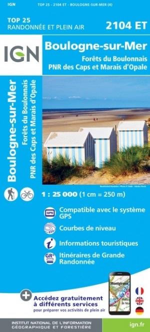 2104ET   Boulogne-sur-Mer | wandelkaart 1:25.000 9782758548324  IGN IGN 25 Picardië & Nord  Wandelkaarten Picardie, Nord