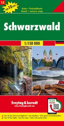 FBD-15 Zwarte Woud (Schwarzwald) 1:150.000 9783707918151  Freytag & Berndt F&B deelkaarten Duitsland  Landkaarten en wegenkaarten Zwarte Woud