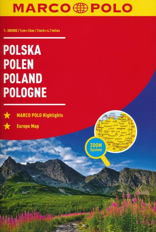 Polen 1/300.000 9783829736879  Marco Polo (D) Wegenatlassen  Wegenatlassen Polen