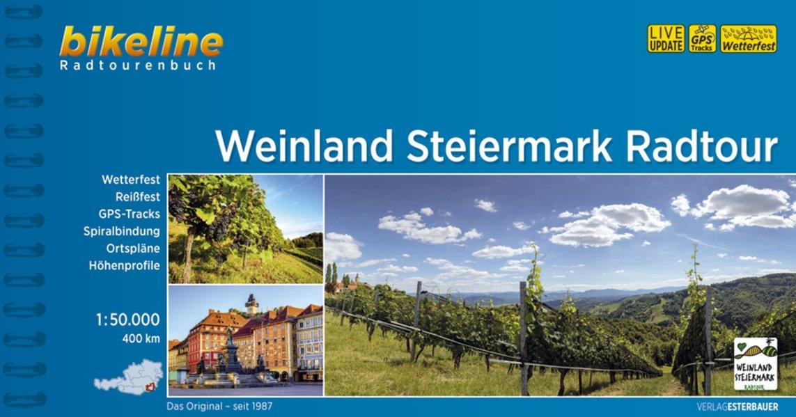 Bikeline Weinland Steiermark Radtour 9783850007559  Esterbauer Bikeline  Fietsgidsen Wenen, Noord- en Oost-Oostenrijk