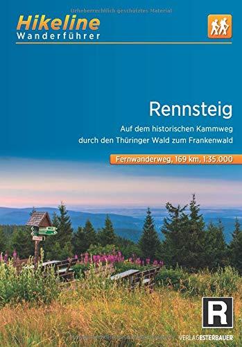 Rennsteig | Hikeline Wanderführer (wandelgids) 9783850007610  Esterbauer Hikeline wandelgidsen  Meerdaagse wandelroutes, Wandelgidsen Thüringen, Weimar, Rennsteig