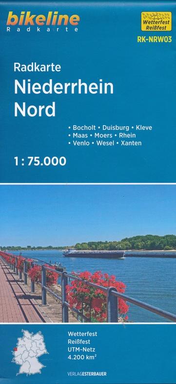 RK-NRW03  Niederrhein Nord 1:75.000 9783850007689  Esterbauer Bikeline Radkarten  Fietskaarten Niederrhein