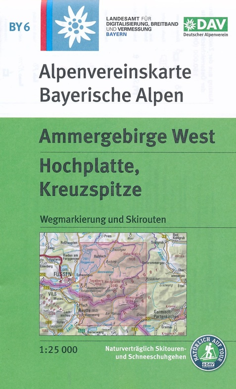 BY-06 Ammergebirge West | Alpenvereinskaart 1:25.000 9783937530895  Deutscher AlpenVerein Alpenvereinskarten  Wandelkaarten Beierse Alpen