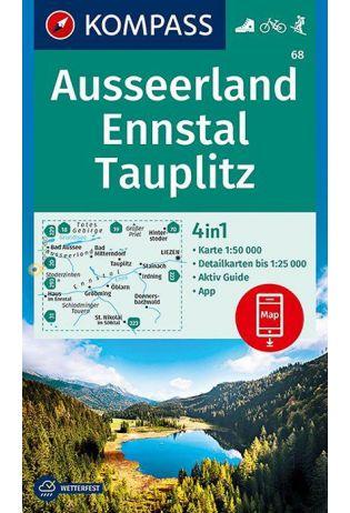 KP-68 Ausseerland - Ennstal | Kompass wandelkaart 9783990446614  Kompass Wandelkaarten Kompass Oostenrijk  Wandelkaarten Salzburg, Karinthië, Tauern, Stiermarken