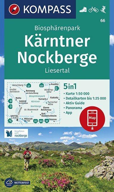KP-66 Biosphärenpark Kärntner Nockberge   Kompass wandelkaart 1:50.000 9783990447291  Kompass Wandelkaarten Kompass Oostenrijk  Wandelkaarten Salzburg, Karinthië, Tauern, Stiermarken