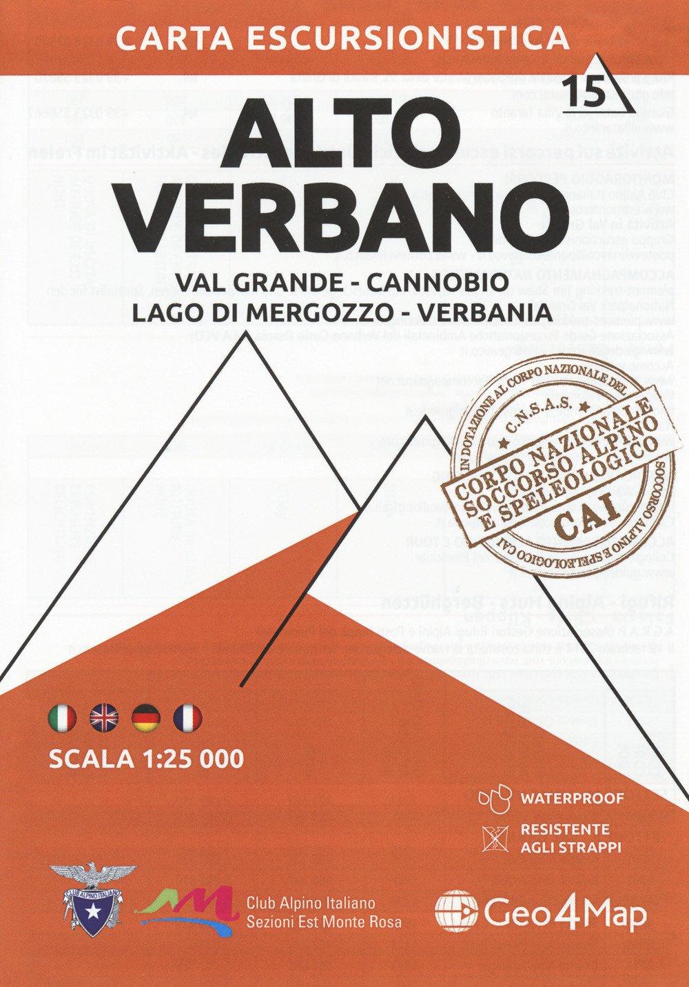 G4M-15 Alto Verbano | wandelkaart 1:25.000 9788899606350  Geo4Map   Wandelkaarten Turijn, Piemonte