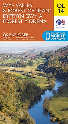 EXP-014  Wye Valley + The Forest of Dean  OL14 | wandelkaart 1:25.000 9780319242537  Ordnance Survey Explorer Maps 1:25t.  Wandelkaarten Zuid-Wales, Pembrokeshire, Brecon Beacons