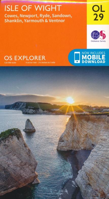 EXP-029  Isle of Wight  OL29 | wandelkaart 1:25.000 9780319263631  Ordnance Survey Explorer Maps 1:25t.  Wandelkaarten Kent, Sussex, Isle of Wight