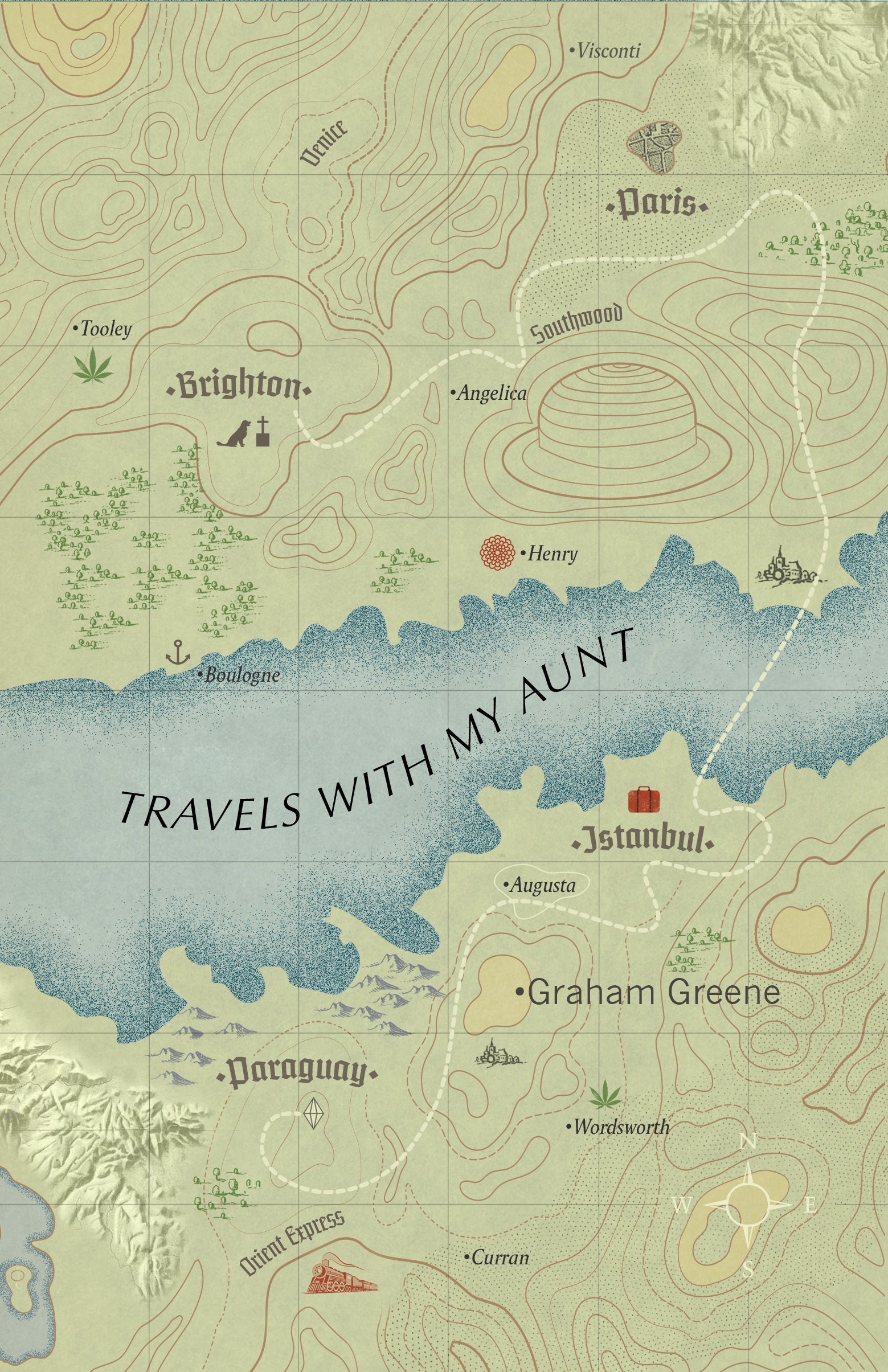 Travels With My Aunt | Graham Greene 9781784875336 Graham Greene Vintage   Reisverhalen Wereld als geheel