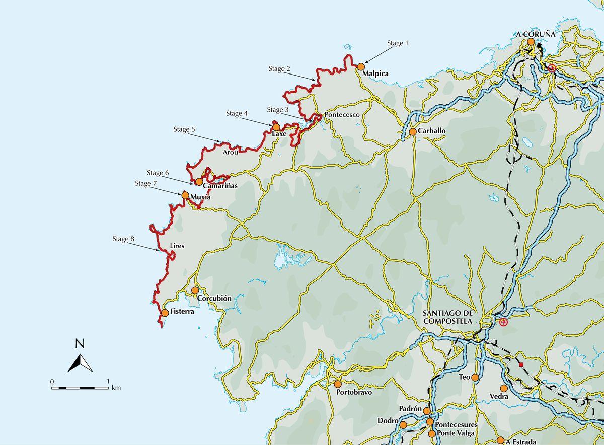 Walking the Camino dos Faros 9781852849719  Cicerone Press   Meerdaagse wandelroutes, Wandelgidsen Noordwest-Spanje