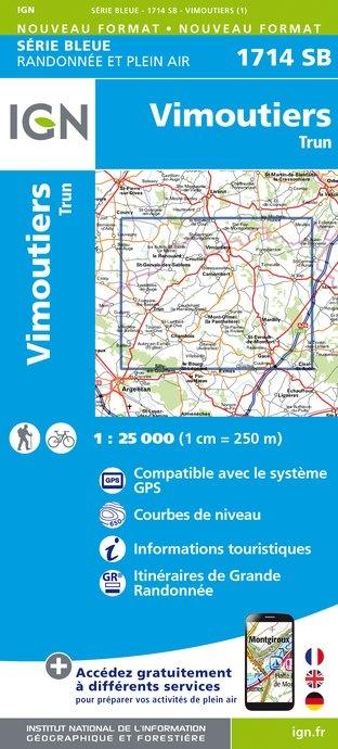 SB-1714SB Vimoutiers/Trun | wandelkaart 1:25.000 9782758534730  IGN Serie Bleue (vernieuwd)  Wandelkaarten Normandië