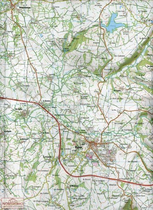 wandelkaart 2339-SB Rieupeyroux - Moyrazes 1:25.000 9782758535577  IGN IGN 25 Lot, Tarn, Aveyron  Wandelkaarten Lot, Tarn, Toulouse