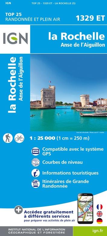 1329ET  La Rochelle, Marans | wandelkaart 1:25.000 9782758542612  IGN IGN 25 Charente, Vendée  Wandelkaarten Vendée, Charente