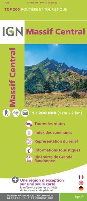 Massif Central (Centraal Massief) 1:200.000 9782758543879  IGN   Landkaarten en wegenkaarten Auvergne