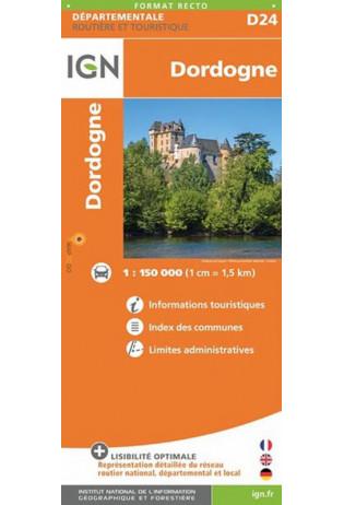 Dordogne 1:150.000 | wegenkaart / overzichtskaart 9782758544166  IGN IGN Spéciales  Fietskaarten, Landkaarten en wegenkaarten Dordogne