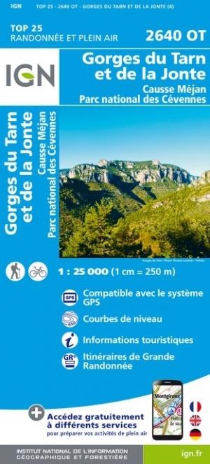 2640OT   Gorges du Tarn | wandelkaart 1:25.000 9782758545415  IGN TOP 25  Wandelkaarten Cevennen, Languedoc