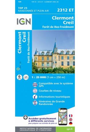 2312ET  Clermont, Creil | wandelkaart 1:25.000 9782758546429  IGN IGN 25 Île-de-France  Wandelkaarten Parijs, Île-de-France