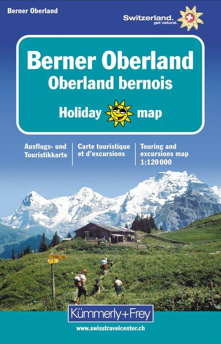 Berner Oberland 1:120.000 9783259009116  Kümmerly & Frey Swiss Holiday Maps  Landkaarten en wegenkaarten Berner Oberland, Basel, Jura, Genève