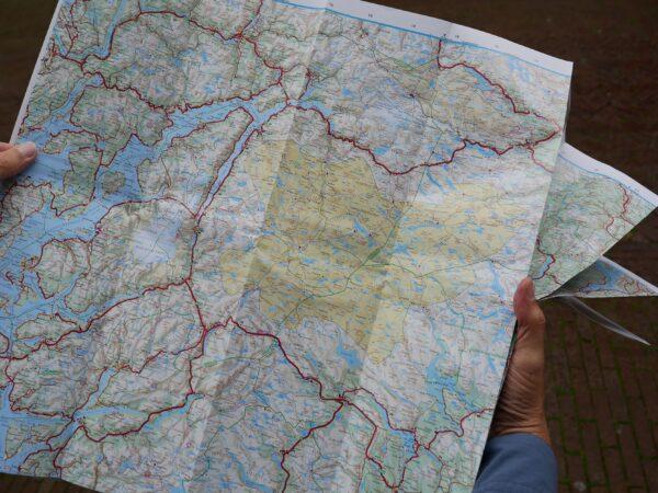 KFN-1  Zuid-Noorwegen 1:335.000 9783259010310  Kümmerly & Frey Cappelens Kart  Landkaarten en wegenkaarten Zuid-Noorwegen
