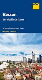 Hessen 1:300.000 9783826423277  ADAC Bundesländerkarten  Landkaarten en wegenkaarten Hessen