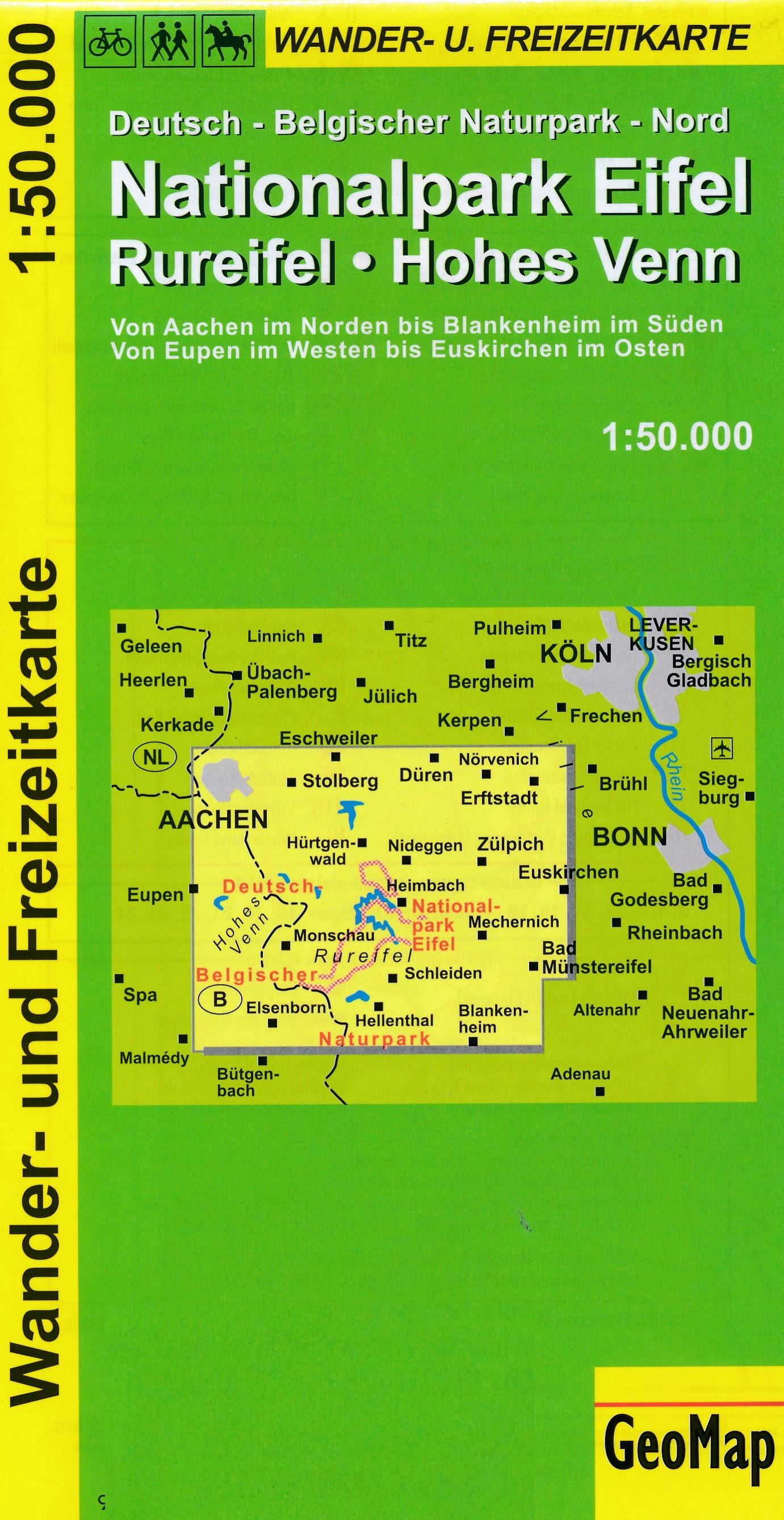 Rureifel, Hohes Venn 1:50.000 9783933671110  GeoMap Wandelkaarten Eifel  Wandelkaarten Eifel