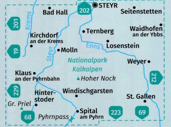 KP-70  NP Kalkalpen | Kompass wandelkaart 9783990444528  Kompass Wandelkaarten Kompass Oostenrijk  Wandelkaarten Wenen, Noord- en Oost-Oostenrijk