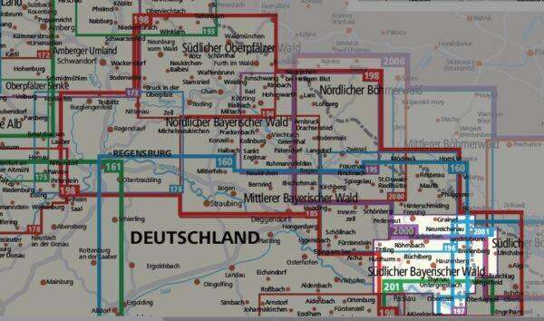 KP-197 Südlicher Bayerischer Wald | Kompass wandelkaart 1:50.000 9783990447239  Kompass Wandelkaarten Kompass Duitsland  Wandelkaarten Beierse Woud, Regensburg, Passau