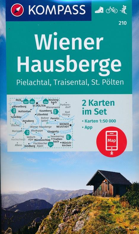 KP-210 Wiener Hausberge | Kompass wandelkaart 9783990447307  Kompass Wandelkaarten Kompass Oostenrijk  Wandelkaarten Wenen, Noord- en Oost-Oostenrijk