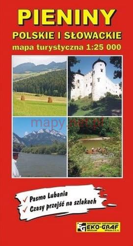 Pieniny: Polskie i Slowackie   wandelkaart 1:25.000 9788386645381  Eko-Graf   Wandelkaarten Polen