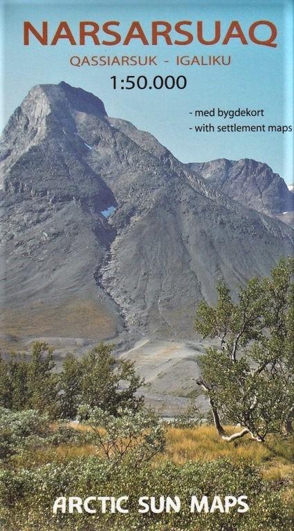 Narsarsuaq - Qassiarsuk - Igaliku | wandelkaart 1:50.000 9788799292509  Arctic Sun Maps Greenl. Hiking Maps  Wandelkaarten Groenland
