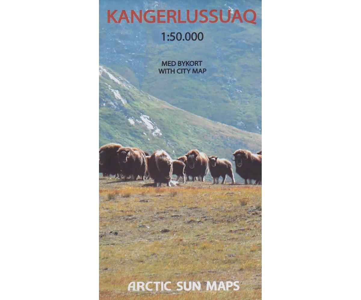 Kangerlussuaq | wandelkaart 1:50.000 9788799292530  Arctic Sun Maps Greenl. Hiking Maps  Wandelkaarten Groenland