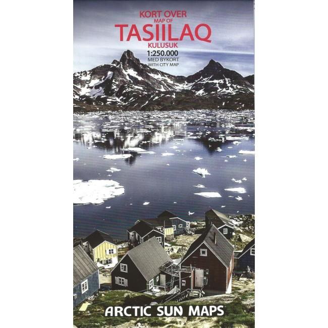 Tasiilaq - Kulusuk | overzichtskaart 1:250.000 9788799292578  Arctic Sun Maps   Landkaarten en wegenkaarten Groenland