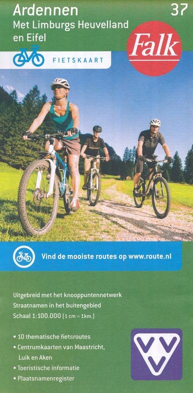FFK-37  Ardennen | VVV fietskaart 1:100.000 9789028700437  Falk Fietskaarten met Knooppunten  Fietskaarten Wallonië (Ardennen)