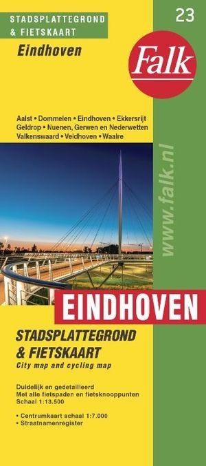Stadsplattegrond Eindhoven 9789028708105  Falk Pl.g. binnenland  Stadsplattegronden Noord-Brabant