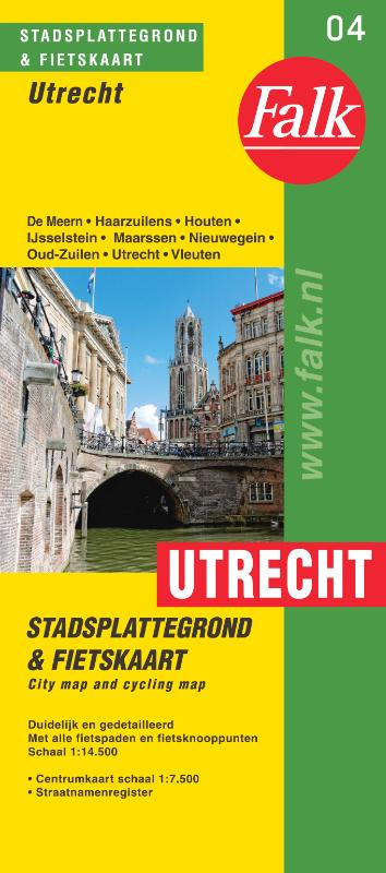 Stadsplattegrond Utrecht 9789028730472  Falk Pl.g. binnenland  Stadsplattegronden Utrecht