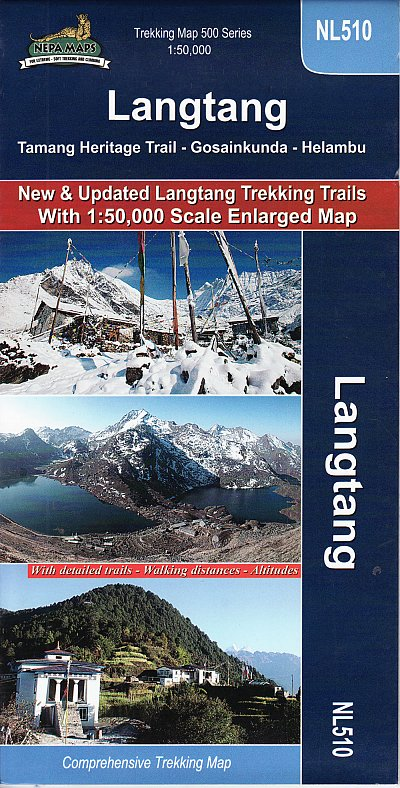 Langtang - Gosainkunda - Helambu 1:50.000 9789937577403  Nepa Maps Wandelkaarten Nepal  Wandelkaarten Nepal