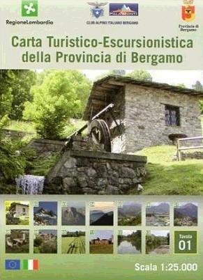 Foglio 1 | wandelkaart 1:25.000 INGENIA F.01  Ingenia / CAI Bergamo Provincia di Bergamo 1:25.000  Wandelkaarten Milaan, Lombardije, Italiaanse Meren