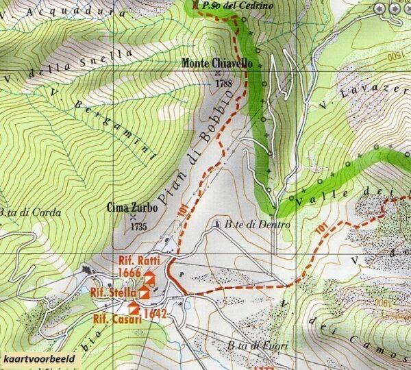 Foglio 2   wandelkaart 1:25.000 INGENIA F.02  Ingenia / CAI Bergamo Provincia di Bergamo 1:25.000  Wandelkaarten Milaan, Lombardije, Italiaanse Meren