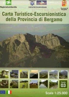 Foglio 3 | wandelkaart 1:25.000 INGENIA F.03  Ingenia / CAI Bergamo Provincia di Bergamo 1:25.000  Wandelkaarten Milaan, Lombardije, Italiaanse Meren