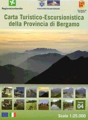 Foglio 4 | wandelkaart 1:25.000 INGENIA F.04  Ingenia / CAI Bergamo Provincia di Bergamo 1:25.000  Wandelkaarten Milaan, Lombardije, Italiaanse Meren