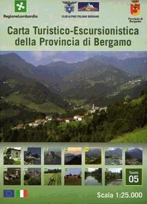Foglio 5 | wandelkaart 1:25.000 INGENIA F.05  Ingenia / CAI Bergamo Provincia di Bergamo 1:25.000  Wandelkaarten Milaan, Lombardije, Italiaanse Meren