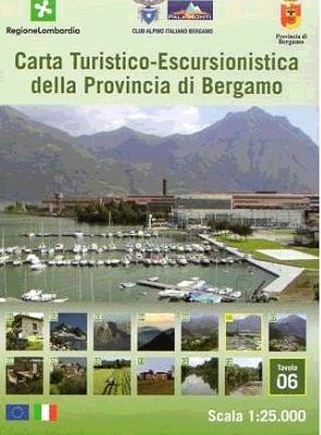 Foglio 6 | wandelkaart 1:25.000 INGENIA F.06  Ingenia / CAI Bergamo Provincia di Bergamo 1:25.000  Wandelkaarten Milaan, Lombardije, Italiaanse Meren