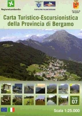Foglio 7 | wandelkaart 1:25.000 INGENIA F.07  Ingenia / CAI Bergamo Provincia di Bergamo 1:25.000  Wandelkaarten Milaan, Lombardije, Italiaanse Meren