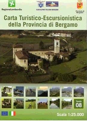 Foglio 8 | wandelkaart 1:25.000 INGENIA F.08  Ingenia / CAI Bergamo Provincia di Bergamo 1:25.000  Wandelkaarten Milaan, Lombardije, Italiaanse Meren