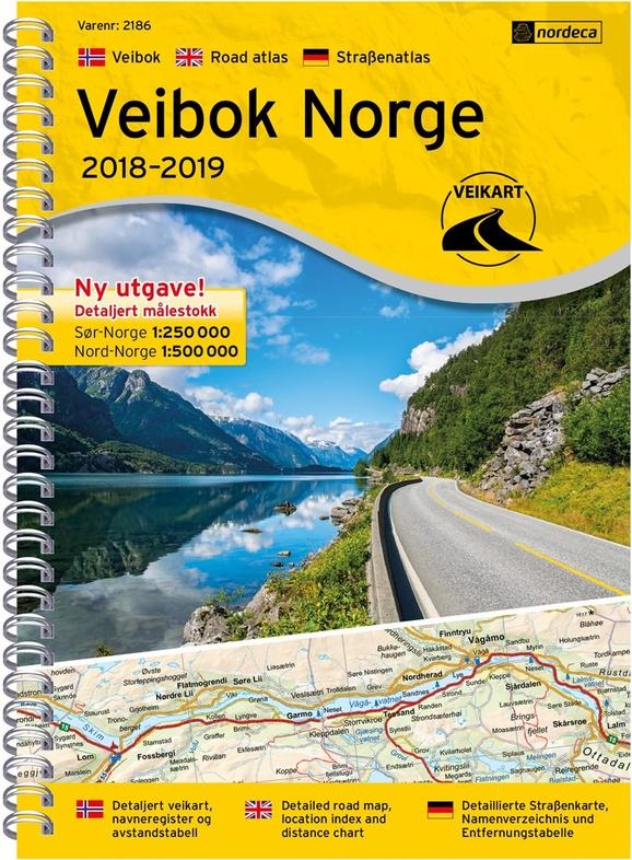Veibok Norge | Wegenatlas Noorwegen 1/250.000 / 500.000 7046660021866  Ugland Wegenatlassen  Wegenatlassen Noorwegen