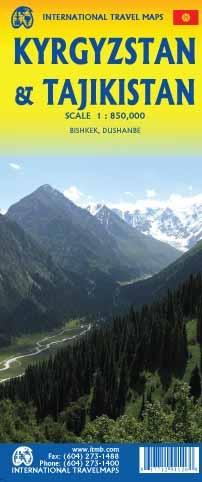 Kirgizië / Tadzikistan wegenkaart 1:850.000 9781771294126  ITM   Landkaarten en wegenkaarten Centraal-Aziatische republieken (Kazachstan, Uzbekistan, Turkmenistan, Kyrgysztan, Tadjikistan)
